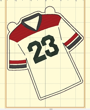 Jersey #23 Banner Add On Embroidery Design
