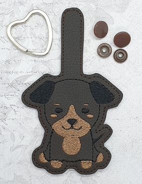 Doberman Puppy UNFILLED Snaptab / Keyfob Embroidery Design