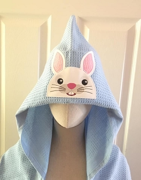 Bunny Face Towel Peeker Embroidery Design