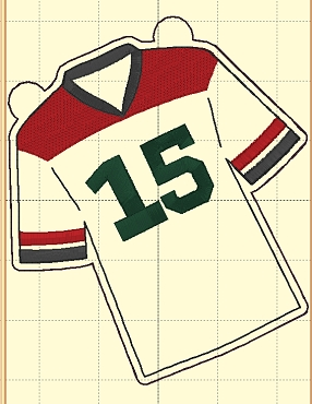 Jersey #15 Banner Add On Embroidery Design