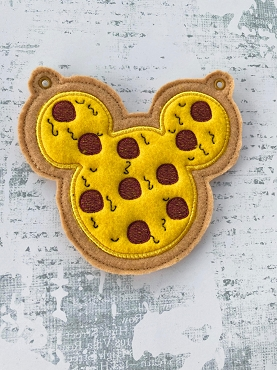 Mr Mouse Pizza Banner Add-On Embroidery Design