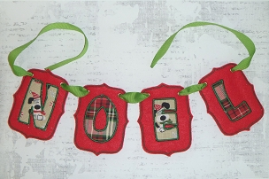 NOEL Banner Embroidery Design