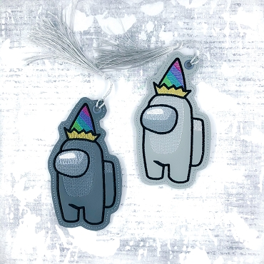 Birthday Crewmate Bookmark Embroidery Design (sketchy)