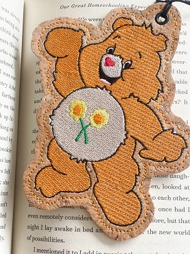 Friend Bear Sketchy Bookmark Embroidery Design
