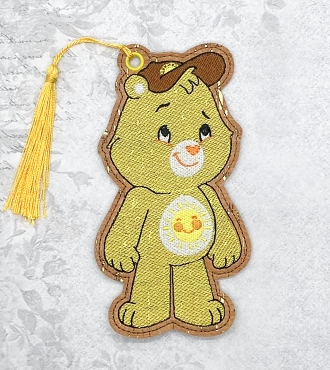 Funshine Bear Bookmark Embroidery Design