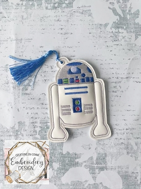 R2D2 Bookmark Embroidery Design