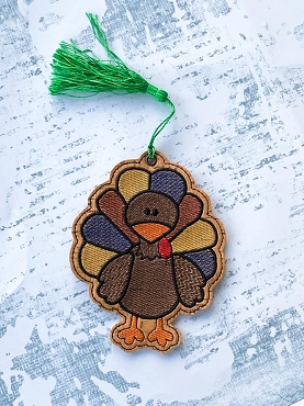 Sketchy Turkey Bookmark Embroidery Design