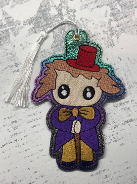 Willie Wonka Bookmark / Ornament Embroidery Design