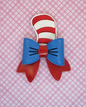 Cat N Hat Hair Bow Embroidery Design