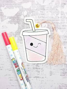 Smiling Soda Coloring Bookmark Embroidery Design