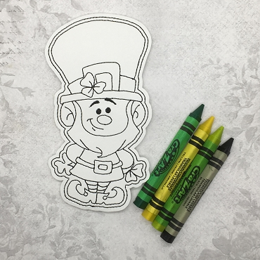Lucky Leprechaun Coloring Doll Embroidery Design