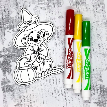 Lucky Coloring Doll Embroidery Design
