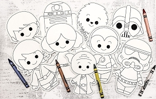 Star Wars Coloring Doll Set Embroidery Design (4x4)