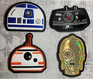 Star Wars Coaster Set #2 Embroidery Design (set of 4)