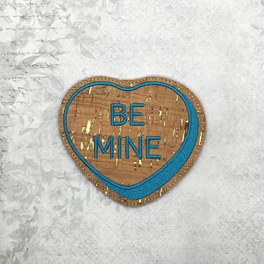 Be Mine Heart Coaster Embroidery Design