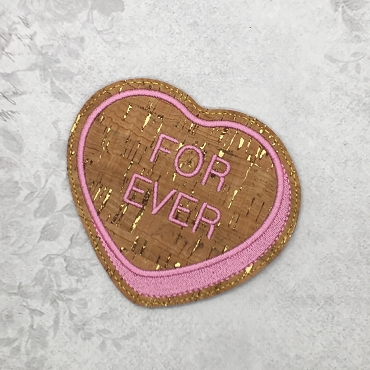 Forever Heart Coaster Embroidery Design