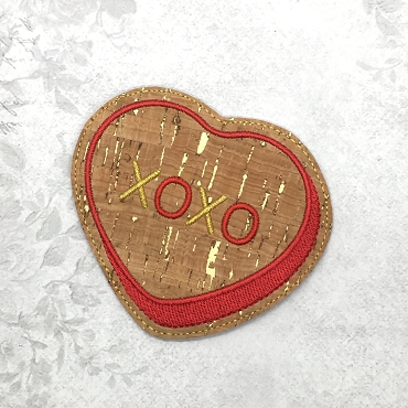XOXO Coaster Embroidery Design