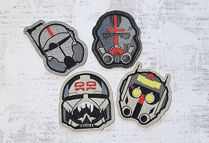 Star Wars Bad Batch Coaster Set Embroidery Design (set of 4)