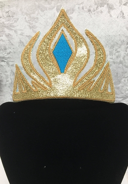Ice Queen Crown Embroidery Design