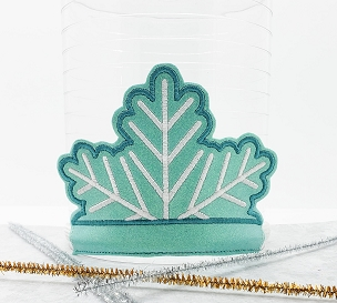 Snowflake Crown Embroidery Design