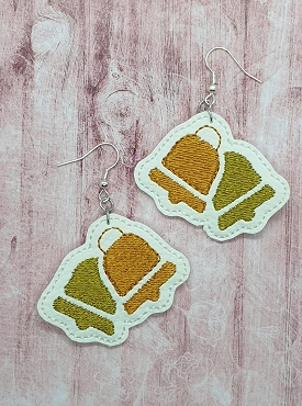 Ringing Bell Earrings Embroidery Design (1.5 inches)