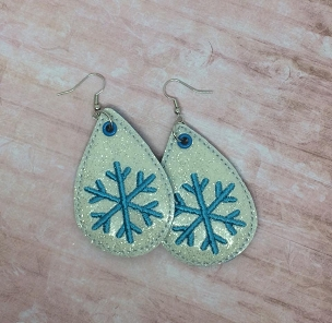 Snowflake Earrings Embroidery Design