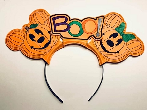 Mr & Mrs Pumpkin Mouse Ears Embroidery Design (5x7)
