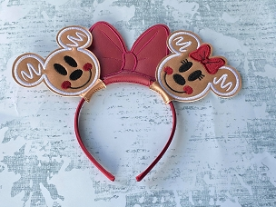 Mr & Mrs Mouse Gingerbread Ears Embroidery Design