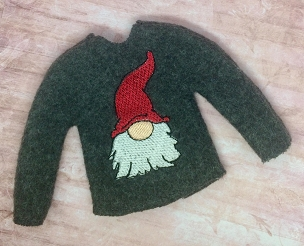 Christmas Gnome Elf Sweater Embroidery Design