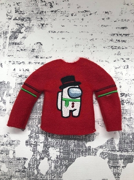Frosty Crewmate Elf Sweater Embroidery Design