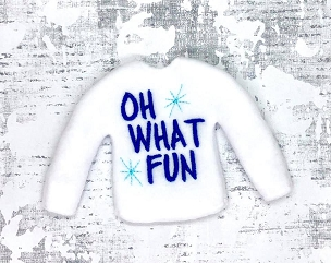 Oh What Fun Elf Sweater Embroidery Deisng