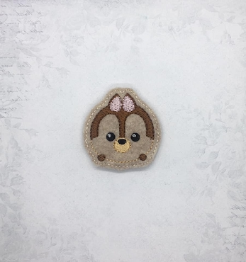 Chip Tsum Tsum Feltie Embroidery Design