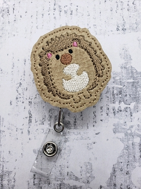 Hedgehog Feltie Embroidery Design
