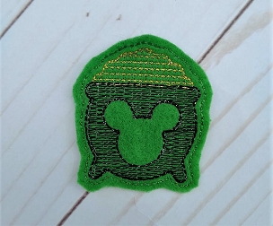 Mr Mouse Pot of Gold Feltie Embroidery Design