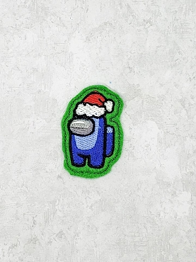 Santa Crewmate Filled Feltie Embroidery Design