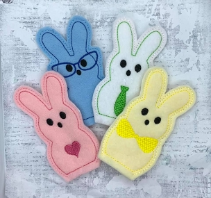 Peeps Dressed Up Finger Puppets Embroidery Design