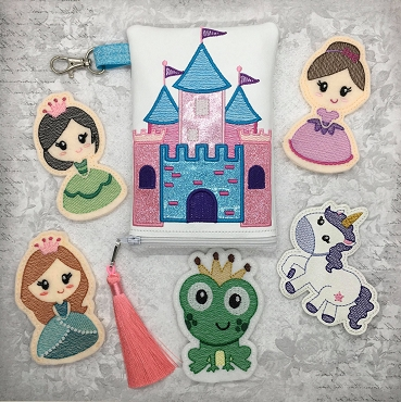 Princess Set Finger Puppets, 5x7 Embroidery Design