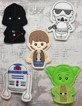 Star Wars Finger Puppets Set 2 Embroidery Design (set of 5)