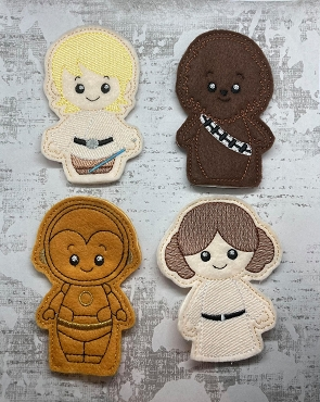Star Wars Finger Puppets & Zipper Bags Embroidery Design