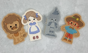 Wizard of Oz Finger Puppets Embroidery Design