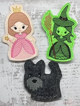 Wizard of Oz Finger Puppets Embroidery Design SET 2