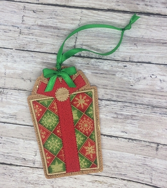 Present Gift Card Holder Embroidery Design