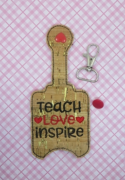Teach Love Inspire Hand Sanitizer Embroidery Design
