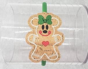 Mrs Mouse Gingerbread Head Band Slider Embroidery Design (5x7)