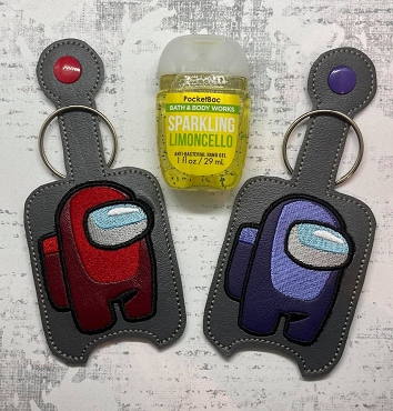 Among Us Hand Sanitizer Embroidery Design
