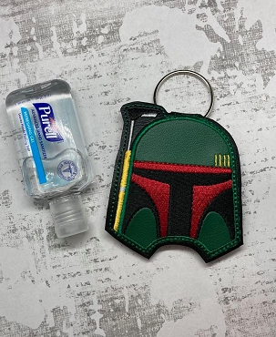 Bobo Fett Hand Sanitizer Embroidery Design