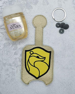 Hufflepuff Applique Hand Sanitizer Embroidery Design