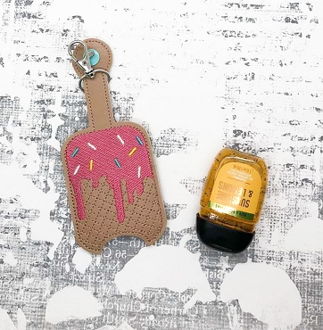 Melting Ice Cream Hand Sanitizer Embroidery Design