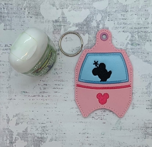 Mrs Mouse Skyliner Hand Sanitizer Embroidery Design