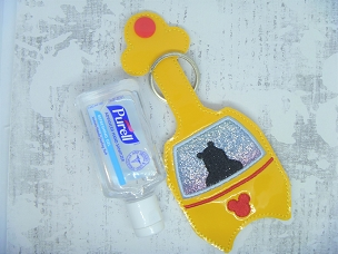Honey Bear Skyliner Hand Sanitizer Embroidery Design